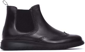 Fratelli Rossetti One Beatles Ankle Boots In Black Calf Leather