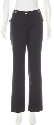 Christian Dior Wool Stud-Embellished Pants