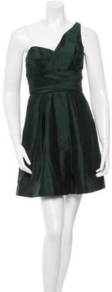 Vera Wang Lavender Label One-Shoulder Silk Dress $85 thestylecure.com