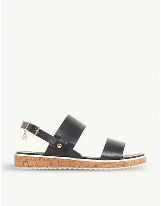 Dune Luminere faux-leather sandals
