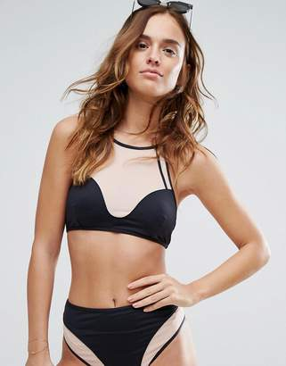Evil Twin Illusion Mesh Bikini Top