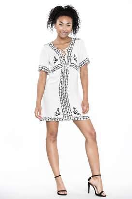 Ark & Co Lace-Up Shirt Dress
