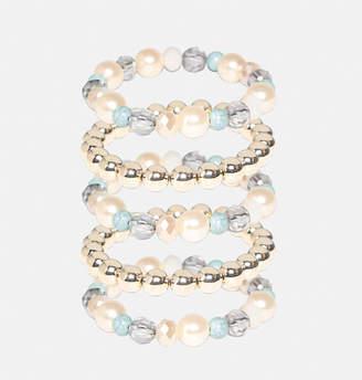 Avenue Multi Pearl Bead Bracelet Set