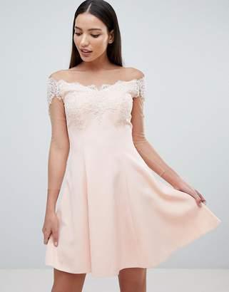 Forever Unique Bardot Mini Dress