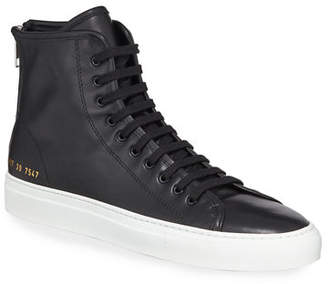 39068ebce69b Common Projects Tournament Leather High-Top Sneakers