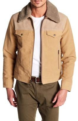 Rag & Bone Matthew Genuine Shearling & Suede Leather Trim Jacket