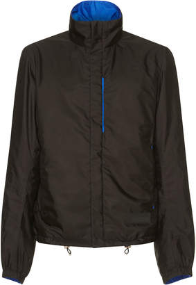 Prada Black And Blue Reversible Nylon Zip Jacket