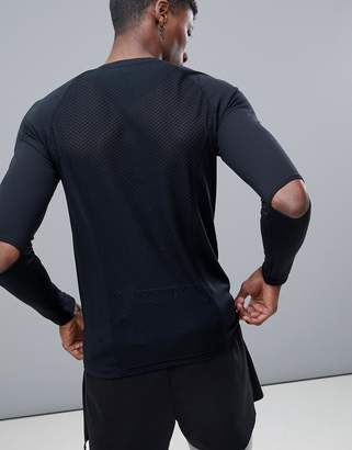 Asos 4505 Long Sleeve T-Shirt With Elbow Detail And Breathable Mesh