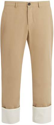 Loewe Mid-rise straight-leg cotton trousers
