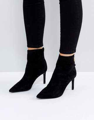 Dune London Oralia Suede Pointed Heeled Boots
