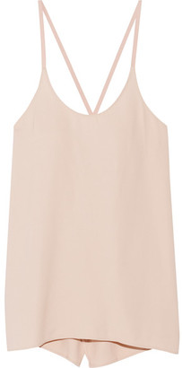 Helmut Lang - Open-back Twill Camisole - Peach $295 thestylecure.com