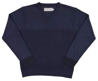 Isaac Mizrahi V-Neck Knit Sweater (Toddler & Little Boys)