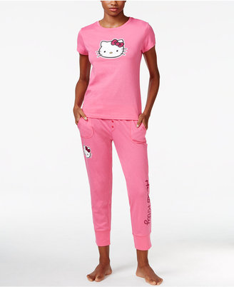 Hello Kitty Back 2 Basics Short Sleeve Top and Jogger Set $48 thestylecure.com