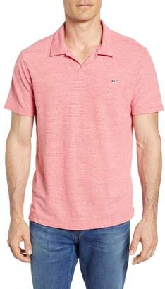 Vineyard Vines Stripe Linen & Cotton Polo