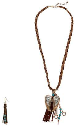 M&F Western Wings and Fringe Necklace/Earrings Set Jewelry Sets