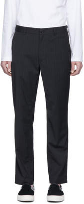 Comme des Garcons Homme Homme Grey and White Stripe Trousers