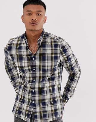 Asos Design DESIGN slim fit check shirt