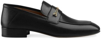 Gucci Leather loafer with Horsebit and Double G