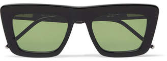 Thom Browne Square-Frame Acetate Optical Sunglasses - Black