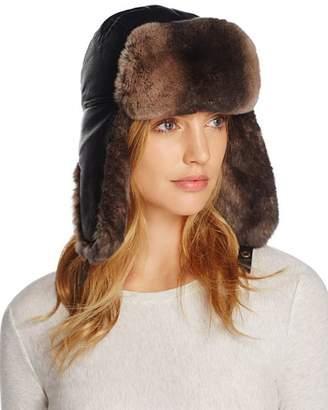 Crown Cap Lambskin and Rabbit Fur Aviator Hat