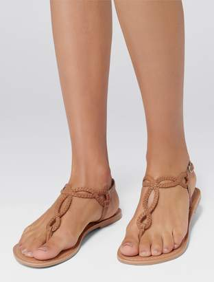 Forever New Samantha Plaited Toe Post Sandal - Camel - 37