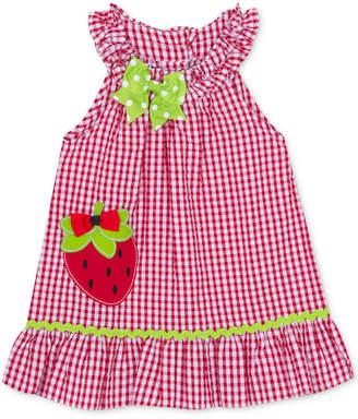 Rare Editions Little Girls Strawberry Gingham Seersucker Dress