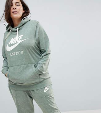 Nike Plus Gym Vintage Pullover Hoodie In Green