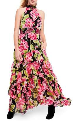 Free People In Full Bloom Halter Maxi Dress