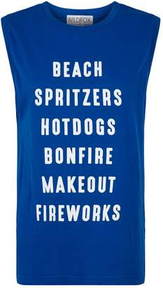 Wildfox Couture July List Muscle Tank