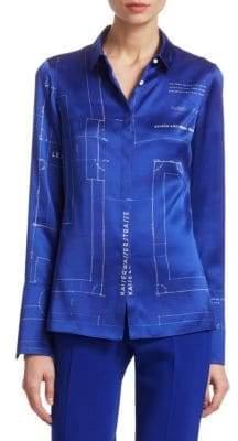 Akris Silk Blueprint Blouse