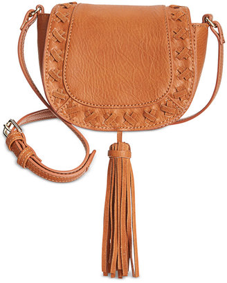 INC International Concepts Logan Mini Saddle Bag, Only at Macy's $59.50 thestylecure.com