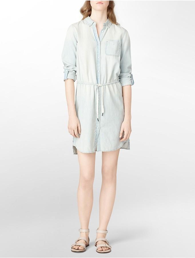Calvin Klein Jeans Faded Denim Dress