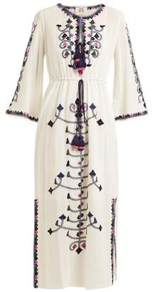 Figue Nadia Embroidered Cotton Dress - Womens - White Multi