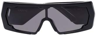 Ganni Black Extreme Square Sunglasses