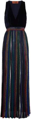 Missoni Velvet Bodice Pleated Gown