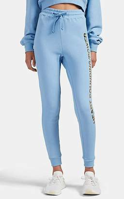 """Barneys New York x TRACY ANDERSON Women's """"Heart Pounding"""" Cotton Terry Jogger Pants - Lt. Blue"""