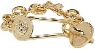 Versus Gold Lion Medallion Bracelet