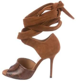 Alexa Wagner Suede Embossed Sandals