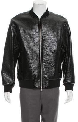 Dries Van Noten Vegan Leather Bomber Jacket