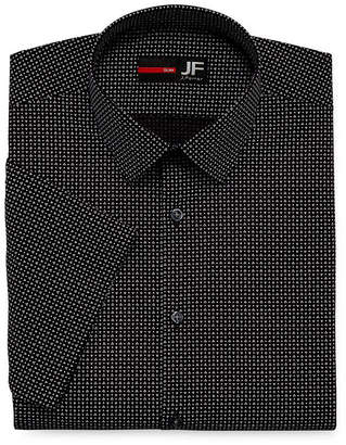 Jf J.Ferrar Stretch Short Sleeve Broadcloth Pattern Dress Shirt - Slim