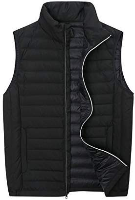 The Plus Project Men's Big and Tall Light Down Vest with Chest Pocket