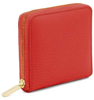 Small Leather Zip Around Wallet