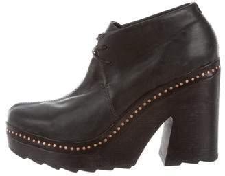 Rag & Bone Leather Platform Ankle Booties