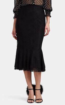 Brock Collection Women's Orchidea Floral Lace Skirt - 001-Black
