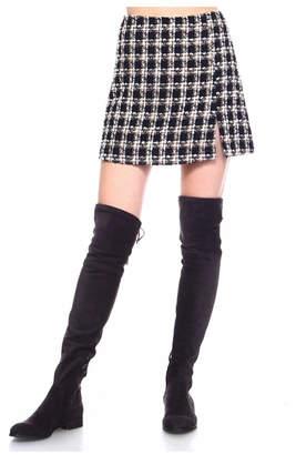 Tcec Plaid Knit Skirt