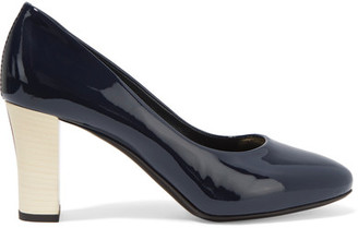 Lanvin - Patent-leather Pumps - Navy $775 thestylecure.com
