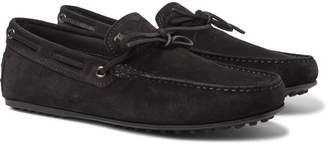Tod's Gommino Suede Driving Shoes - Men - Black