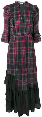 Liu Jo tartan ruffle dress