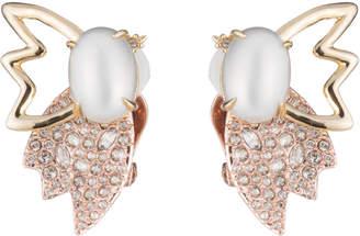 Alexis Bittar Crystal Encrusted Petal Pearl Clip Earring
