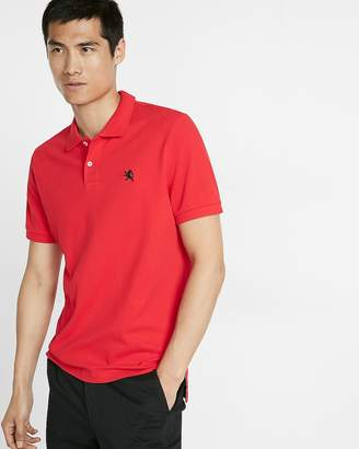Express Stretch Contrast Lion Pique Polo
